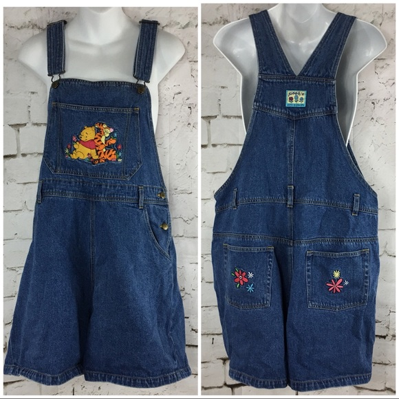 bc5806df2ff Disney Catalog Winnie the Pooh Bib Overall Shorts